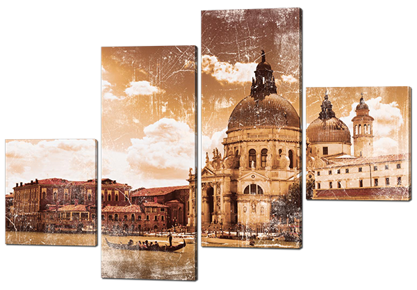 Модульная картина Старая Венеция