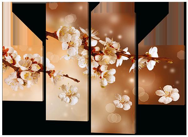 Модульная картина Сакура в цветении