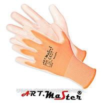 Защитные рукавицы RacrylPu изготовленные из полиэстера, покрытые полиуретаном ARTMAS