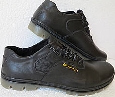 Comfort мужские демисезонные кожаные кроссовки большого размера