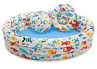Детский надувной набор INTEX (Интекс): НАДУВНОЙ БАССЕЙН (132х28см, 248л) + МЯЧ + КРУГ, от 3 лет