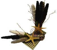 Букет из носков Морской берег оригинальный подарок прикольный