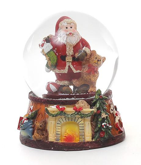 Декоративный водяной шар Санта с подарками 2 вида, в упаковке 6шт. (559-179)