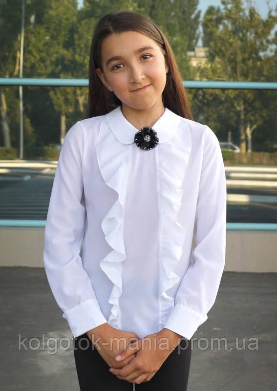 Блузка школьная белая для девочки арт.103