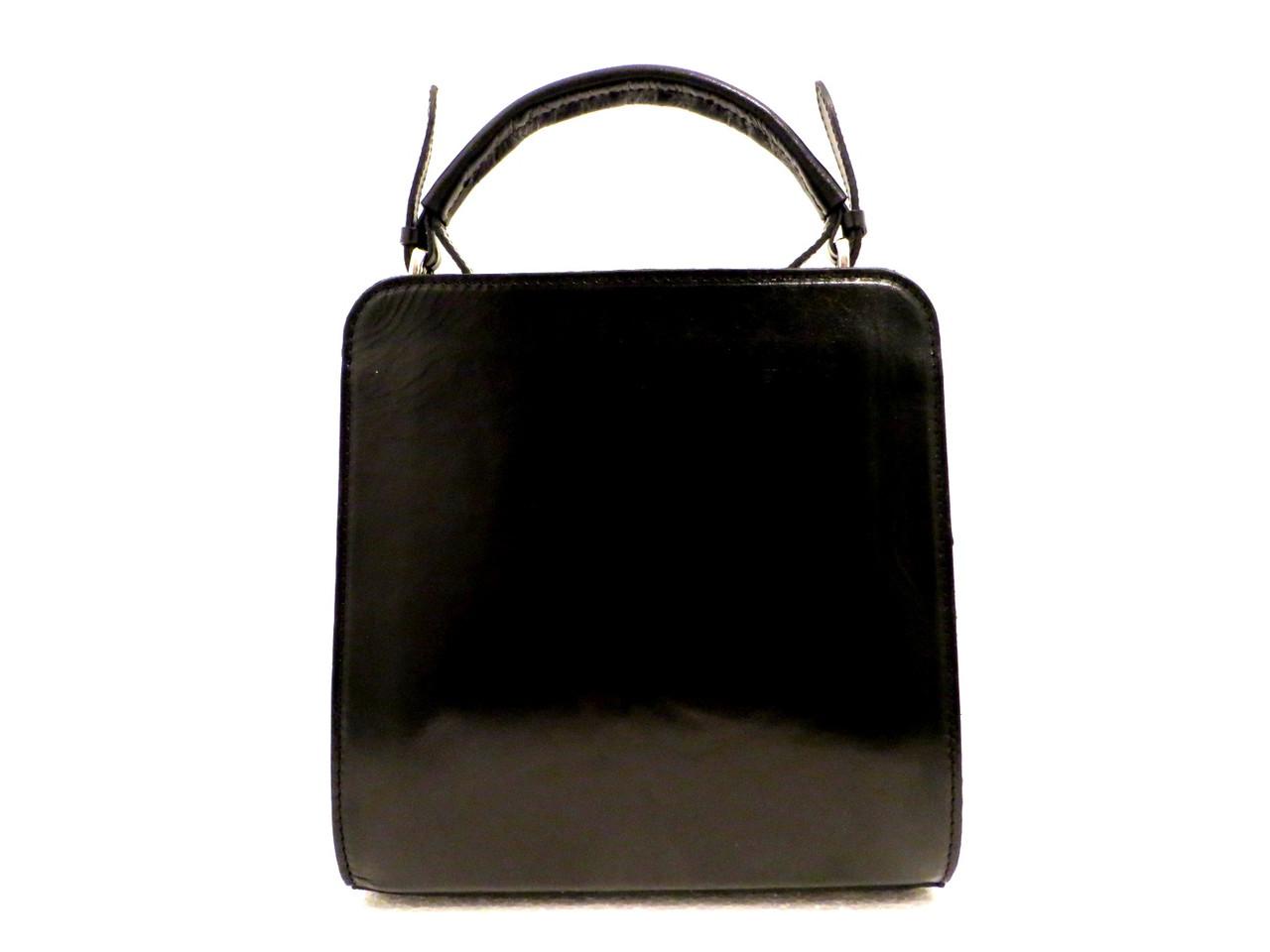 Стильная женская сумка. Натуральная кожа. Италия Черный