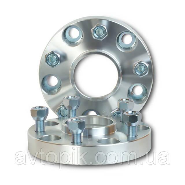 Автомобильное расширительное кольцо (Spacer) H = 25 мм. Футорка M12x1,25 PCD5*114,3 DIA56,1