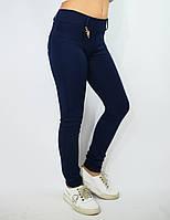 Лосины, Леггинсы детские синие с поясом и карманами сзади, фото 1