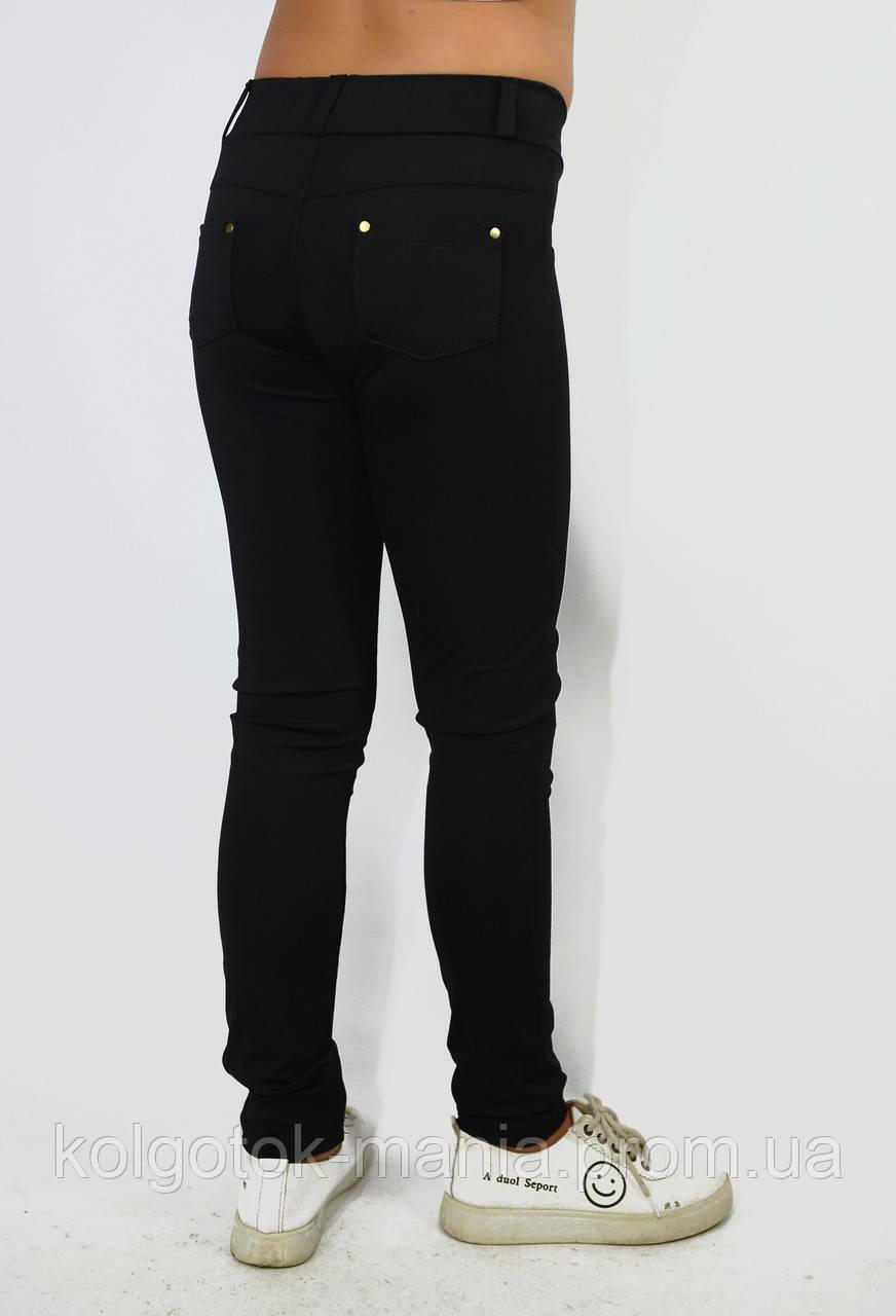 Лосины, Леггинсы детские чёрные с поясом и карманами сзади, фото 1