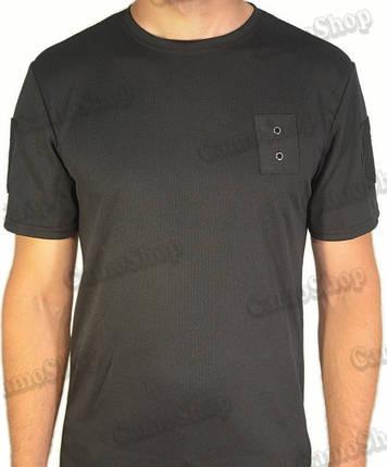Термофутболка полицейская из ткани кулмакс чёрного цвета, фото 2