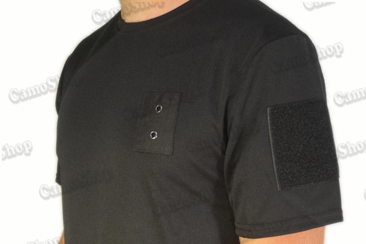 Термофутболка полицейская из ткани кулмакс чёрного цвета