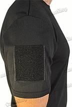 Термофутболка полицейская из ткани кулмакс чёрного цвета, фото 3