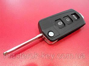 Заготовка выкидного ключа KIA CARENS 3 кнопки 142#