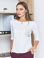 Стильный, практичный женский свитшот с рукавами ¾ и удлиненной спинкой 90309, фото 1
