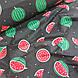 Ткань хлопковая, арбузы крупные красно-зеленые на черном, фото 4