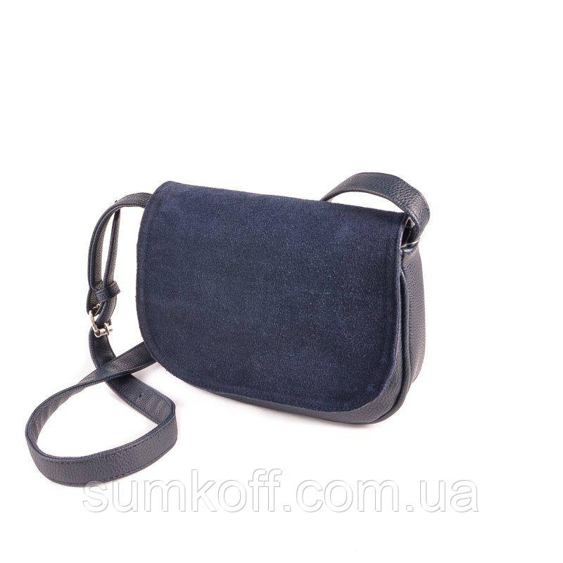 e5441caed15b Сумка синяя замшевая М55-39/замш кроссбоди маленькая на плечо - Интернет  магазин сумок