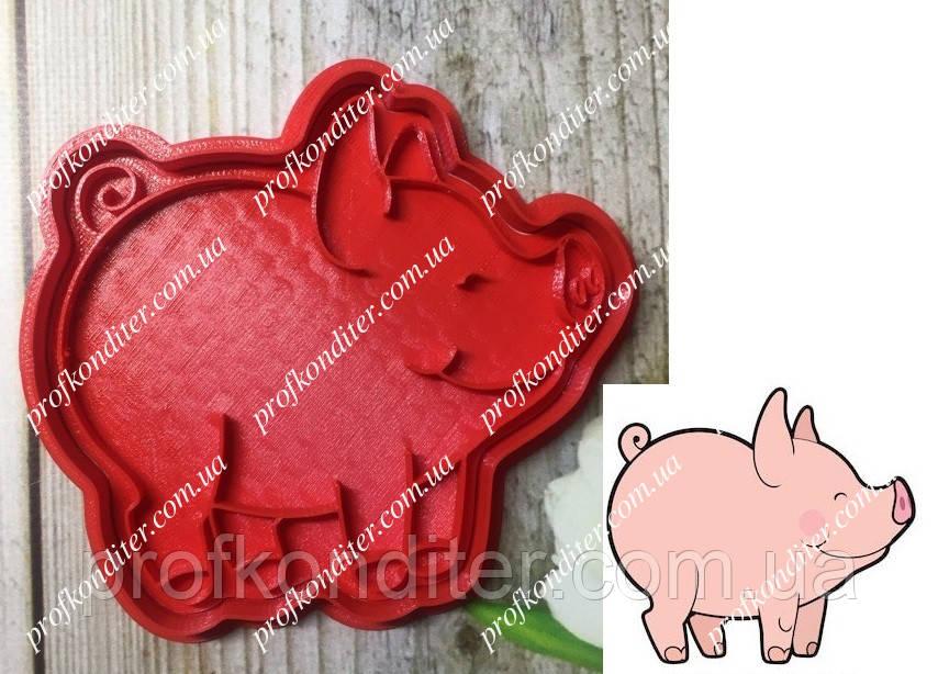 Пластиковая вырубка с оттиском Свинка №1