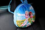 Подушка-рюкзак Эльза Холодное сердце в машину, фото 3