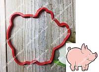 Пластиковая вырубка Свинка №1