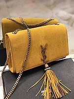 Очаровательная женская сумочка SAINT LAURENT замша (реплика)