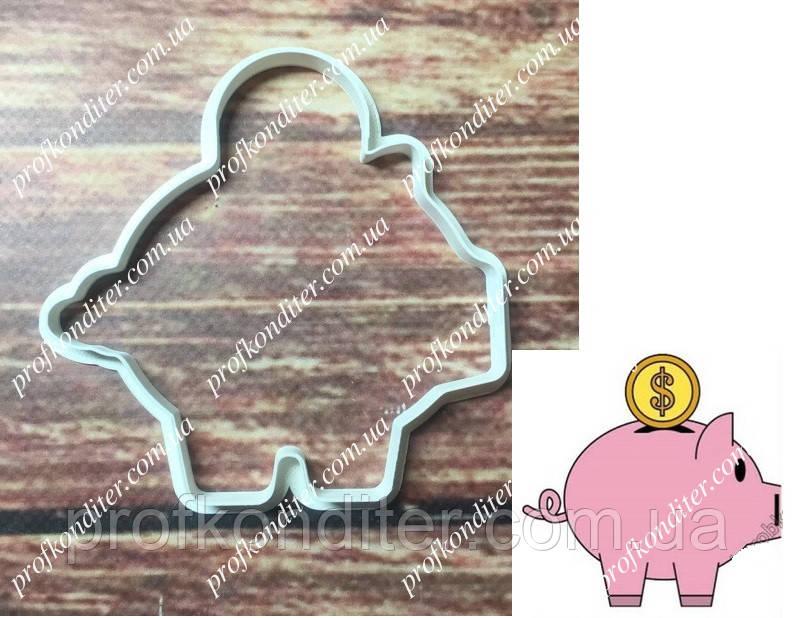 Пластикова вирубка Свинка-скарбничка