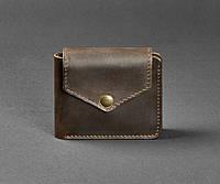 Купюрник кожаный мужской карты, монетница коричневый (ручная работа), фото 1