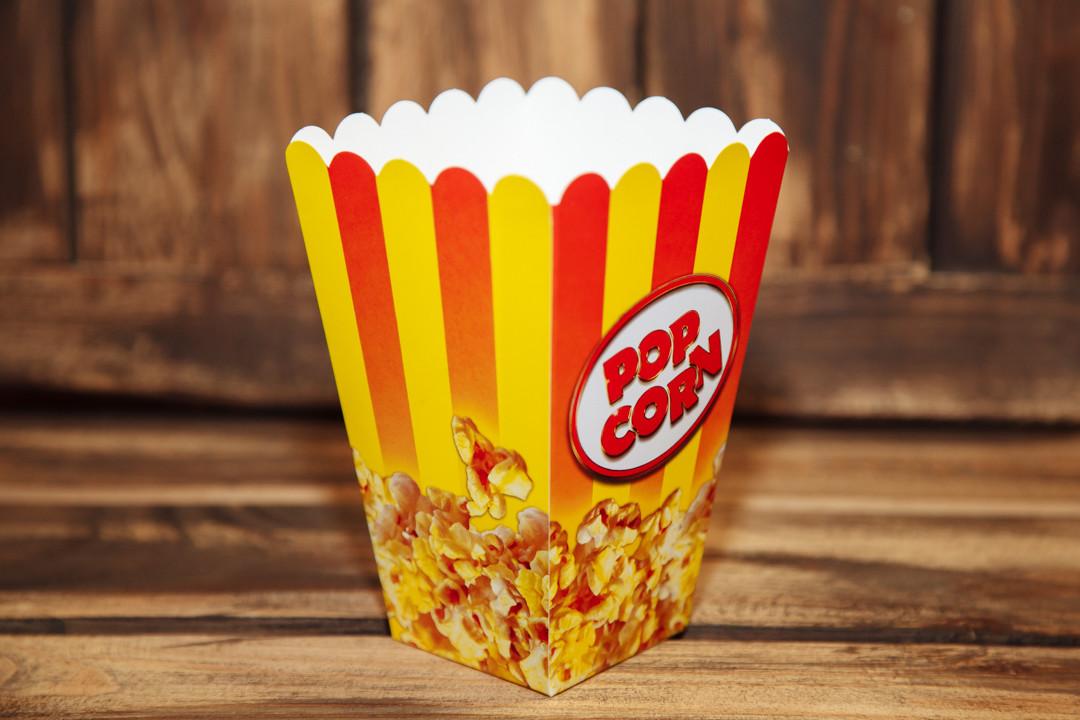 Коробочка для попкорна 1.5 л. (красно-жёлтая)