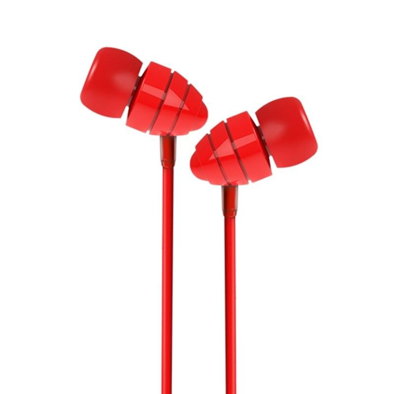 Красные вакуумные наушники