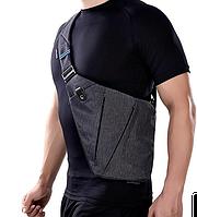 Мужская сумка мессенджер Cross Body Цвет Серый