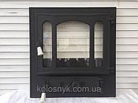 Дверцы для камина печи барбекю 460x485 мм. Печная дверца со стеклом