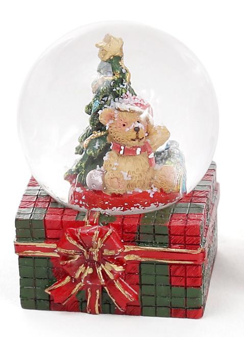 Декоративный водяной шар 6.3см Мишка на подарке 2 вида (559-188)