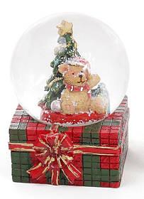 Декоративный водяной шар 6.3см Мишка на подарке 2 вида, в упаковке 12шт.  (559-188)