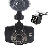 Видеорегистратор WiFi на 2 камеры. Экран 2,7 дюйма E-ACE EA-305. Камера FHD 1080P