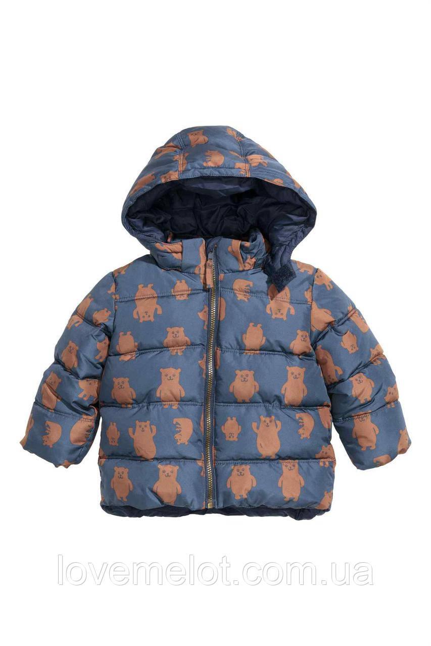 """Куртка теплая H&M """"Нильс"""" для мальчика, рост 74см, 80см, 86см, 92см сезон осень-зима, курточка для ребенка"""
