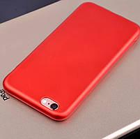 Красивый красный силиконовый чехол для iPhone 7