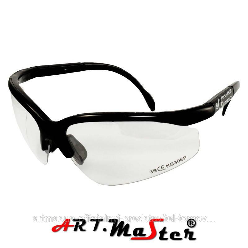 Противоосколочные защитные очки B306p с прозрачной линзой ARTMAS