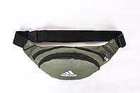 Поясная сумка мужская (бананка) Adidas khaki (реплика)