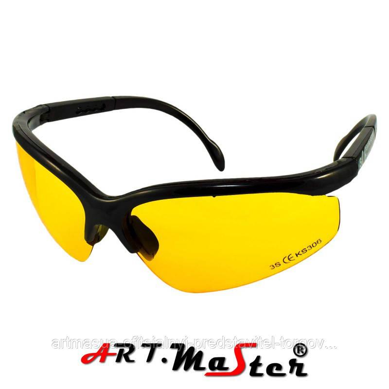 Противоосколочные защитные очки B306y c желтой линзой ARTMAS