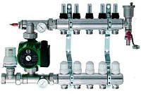Коллектор водяного теплого пола Ecotech 2-10 контуров в сборе