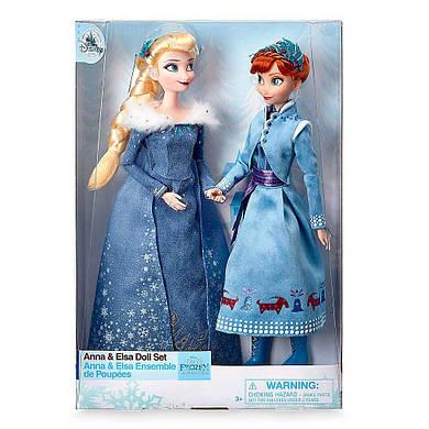 Лимитированный набор кукол Анна и Эльза из мф Холодное сердце Приключения Олафа DISNEY
