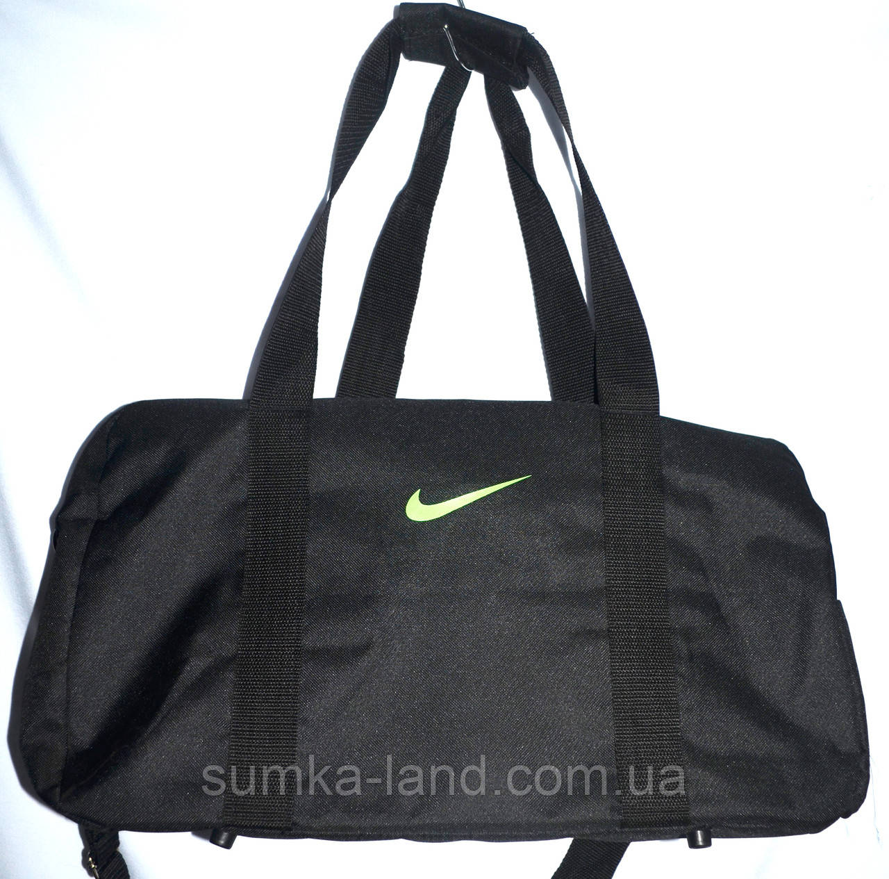 908d9df7 Спортивная дорожная универсальная сумка Nike 43*27 см (черный с салатовым)