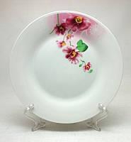 "Набор фарфоровых  тарелок ""Орхидея пурпур"", 6 шт."