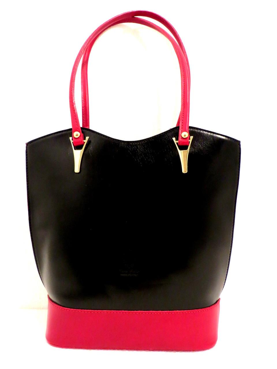 Стильная женская сумка из натуральной кожи. Италия, фото 1