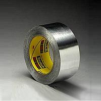 Односторонняя клейкая лента 3M 425.(50 мм х 55 м  х 0,12 мм.) На основе алюминиевой фольги.425