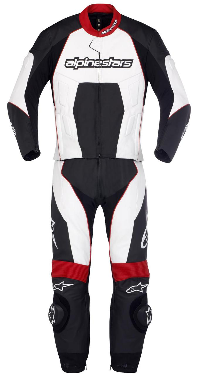 "Комбинезон Alpinestars CARVER  black\white\red кожа ""54"""