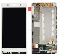 Дисплей для Huawei P6 (P6-U06) Ascend с тачскрином и рамкой белый Оригинал