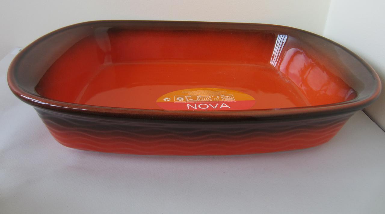 Форма прямоугольная из жаропрочного фарфора 37 см Nova