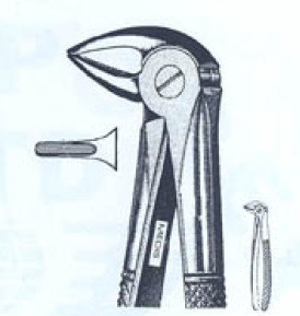 Щипцы экстракционные для корней нижних зубов(Пакистан) M-346-33A NaviStom