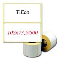 Термоэтикетки T.Eco 102х73,5(100х73) мм./500шт. Скидки при заказах от 5 рулонов!