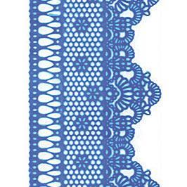 Декор кондитерський Добрик Мереживо для торта №2 блакитне 10 шт./ящ.