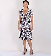 Платье Zirka. Принт  фиолетовые огурцы., фото 1